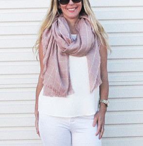 MILENA WINTER SCARF- DUSTY PINK