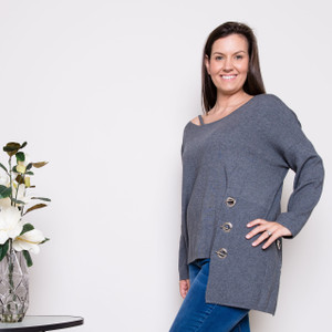 TONYA KNIT- DARK GREY