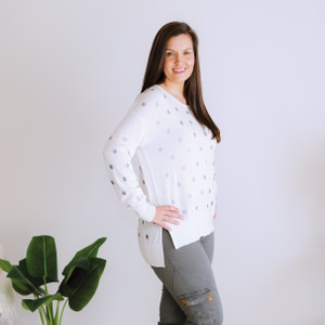 HAYLEY METALLIC_POLKA_ DOT_KNIT_CREAMY_WHITE