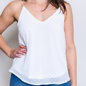 CINDY CAMI TOP - WHITE