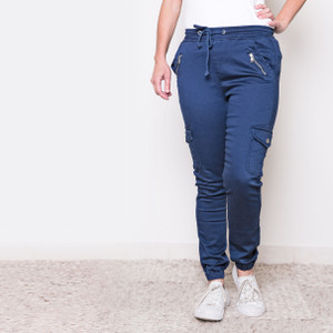 ADELE CARGO JOGGERS-NAVY - FRONT