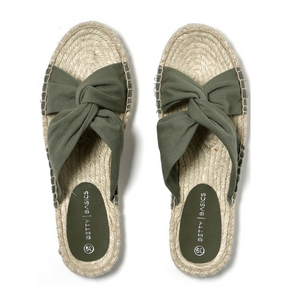 BETTY BASICS COASTAL ESPADRILLE SLIDE -KHAKI