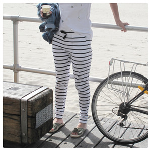 HEIDI PANT - WHITE/BLACK STRIPES SIZE 8-22
