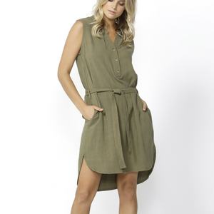 KACE MIDI DRESS- KHAKI