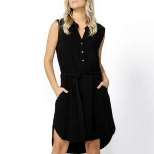 KACE MIDI DRESS- BLACK