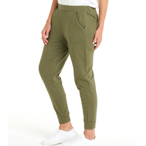 BETTY BASICS LINDSAY JOGGER - KHAKI