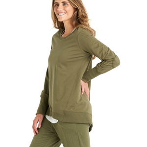 BETTY BASICS DOLLY SWEAT-KHAKI