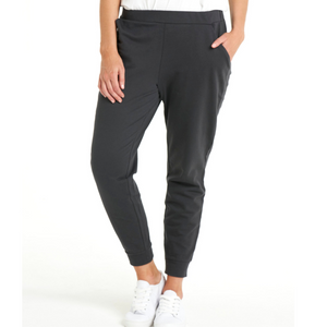 BETTY BASICS LINDSAY JOGGER - GUNMETAL SIZE 8-22