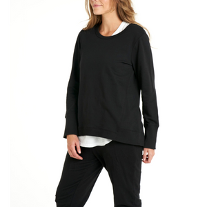 BETTY BASICS DOLLY SWEAT-BLACK