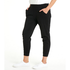 BETTY BASICS LINDSAY JOGGER - BLACK SIZE 8-22