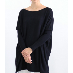 ASHLEY OVERSIZED KNIT - BLACK