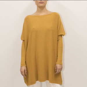 ASHLEY OVERSIZED KNIT - MUSTARD