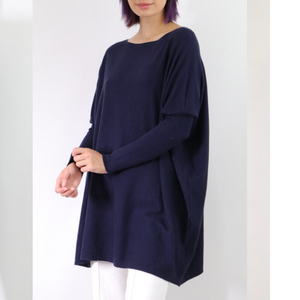 ASHLEY OVERSIZED KNIT - NAVY
