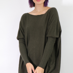 ASHLEY OVERSIZED KNIT - KHAKI