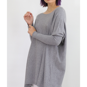 ASHLEY OVERSIZED KNIT - CHARCOAL
