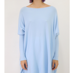 ASHLEY OVERSIZED KNIT -BABY BLUE