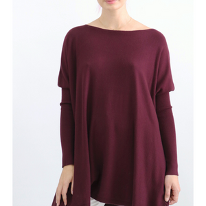 ASHLEY OVERSIZED KNIT - BURGUNDY