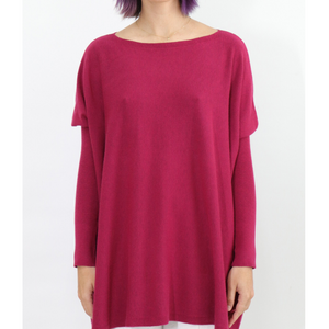 ASHLEY OVERSIZED KNIT -PLUM