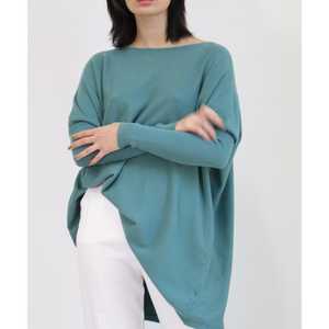 ASHLEY OVERSIZED KNIT -AQUA