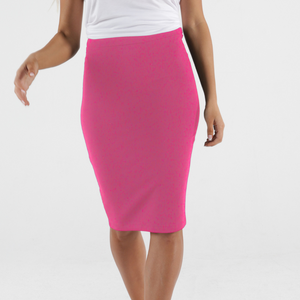 ALICIA MIDI SKIRT - FUCHSIA