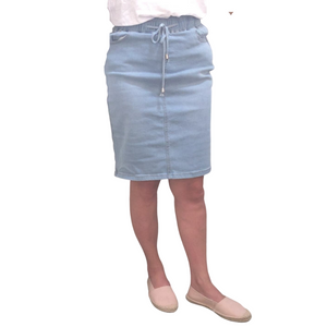 EVIE DENIM SKIRT - LIGHT BLUE