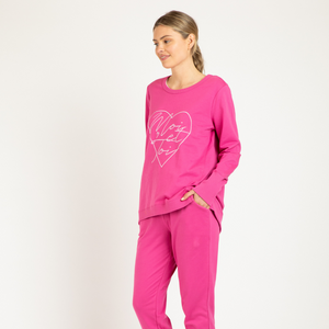 BETTY BASICS DOLLY SWEAT-FUCHSIA