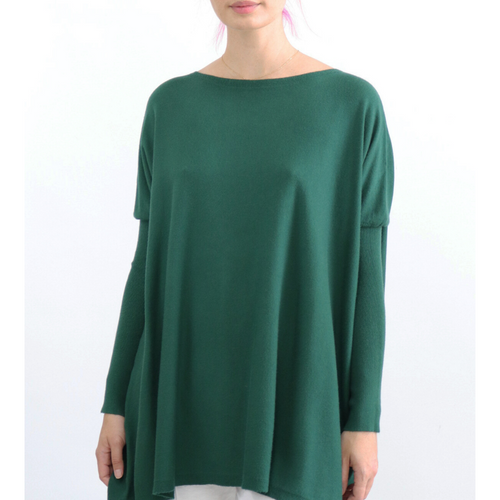ASHLEY OVERSIZED KNIT - EMERALD GREEN