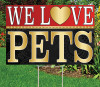 "WE LOVE PETS - 12"" x 18"" Sign - Bold Theme"