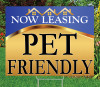"PET FRIENDLY - 18"" x 24"" Sign - Goldness Gracious (Blue) Theme"
