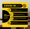 "COVID-19 Preventative Measures Sign - 12"" x 12"" Styrene"