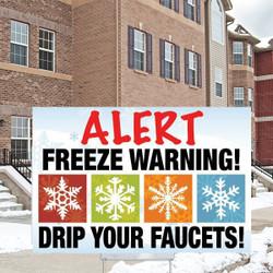 "12"" x 18"" Freeze Warning"