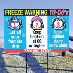 """Freeze Warning  """"To-Do"""" SIGN"""