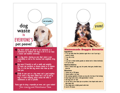 Pet Station Info Door Hangers  (Pack of 100)