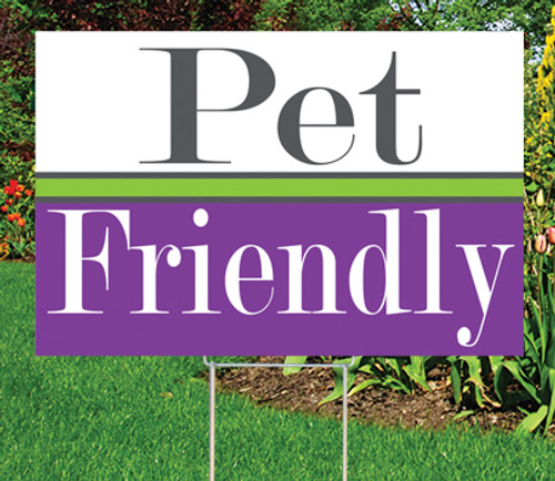 "Pet Friendly - 12"" x 18"" Sign - Dazzle Theme"