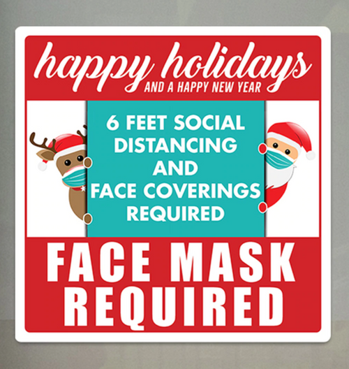 Holiday Face Mask Required Sign