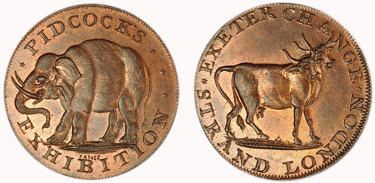 Gilbert Pidcock, Copper Halfpenny, Undated (D&H Middlesex 422)