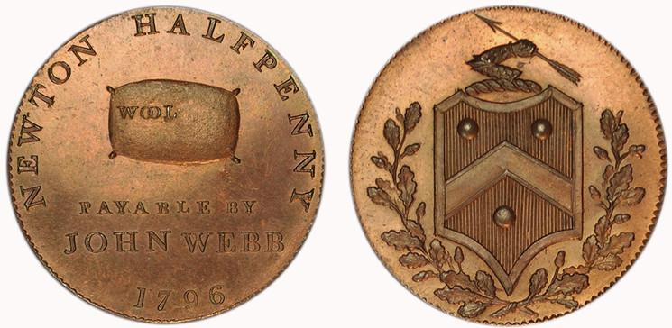 John Webb, Copper Halfpenny, 1796  (D&H Warwickshire 317)