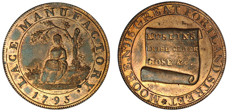 Joseph Moore, Copper Halfpenny, 1795  (D&H Middlesex 389)