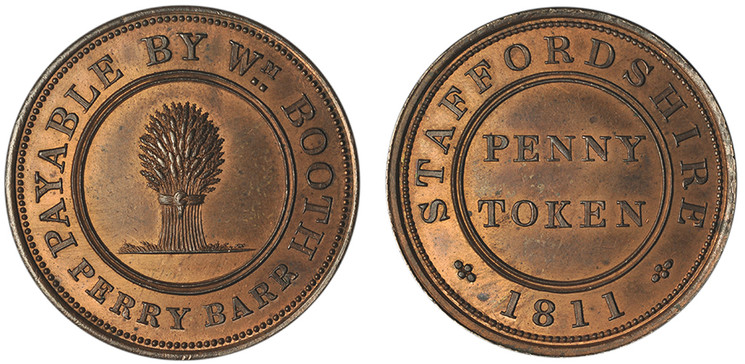William Booth, Penny, 1811 (A copy c. 1900; W 956)