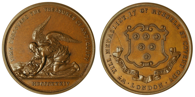 William Till, Private Numismatist's Token, 1834 (Davis p346, 65)