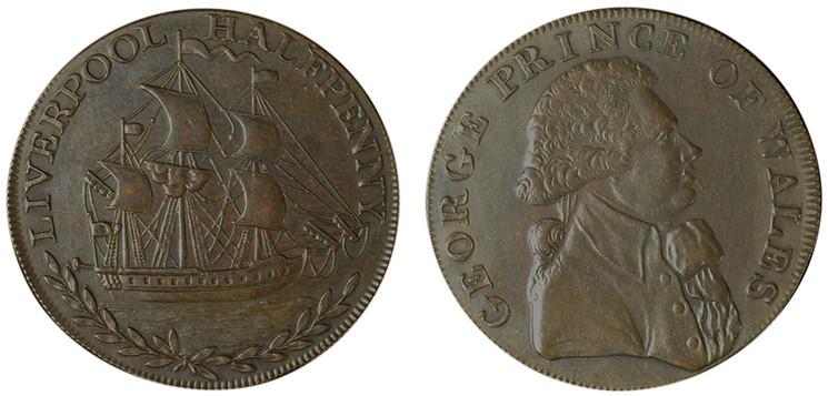 Metal & Copper Company 1/2d mule, c1795 (D&H Lancashire 121b)