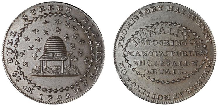 William Donald, Commercial Halfpenny, 1792 (D&H Nottinghamshire 7)
