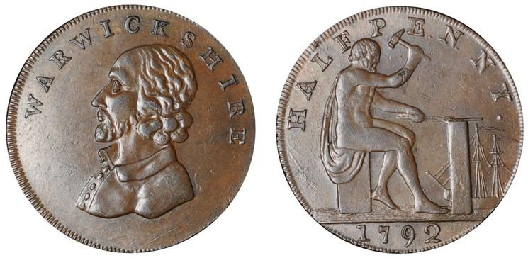 William Shakespeare Copper Halfpenny c1795 (D&H Warwickshire 49)