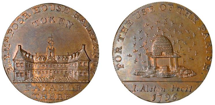 James Alston, Birmingham Halfpenny, 1796 (D&H Warwickshire 63)