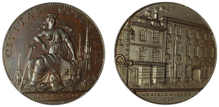 Thomas Sharp, Copper Halfpenny, 1797 (D&H Warwickshire 312)