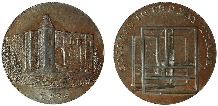 Charles Heath, Copper Halfpenny, 1794 (D&H Essex 10)