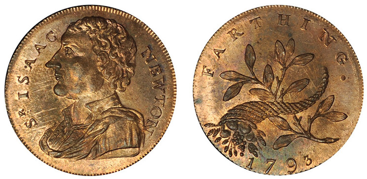 Peter Kempson, Copper Farthing, 1793 (D&H Middlesex 1151)
