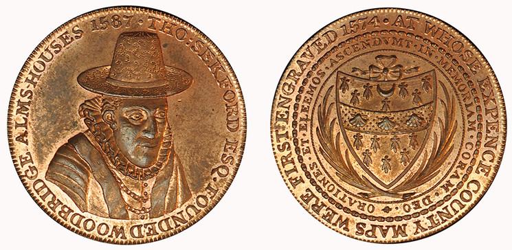 Robert Loder, Copper Penny, 1796 ( D&H Suffolk 15)
