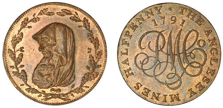 Parys Mine Company Copper Halfpenny, 1791   (D&H Anglesey 391)