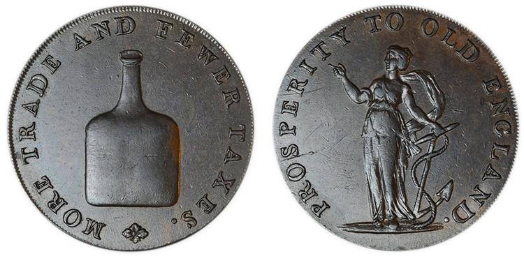 Dinmore & Son, Copper Halfpenny (D&H Norfolk 23b)